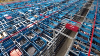 Materialfluss in einem Warenlager von Linde Material Handling