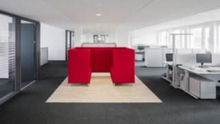 Renovierte Büroräume bei Linde Material Handling