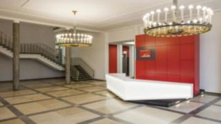 Foyer von Linde Material Handling in Aschaffenburg