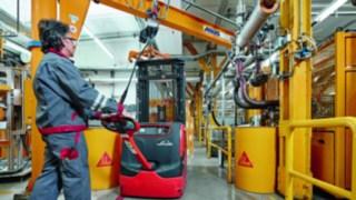 Hochubwagen im Einsatz bei Sika Deutschland GmbH